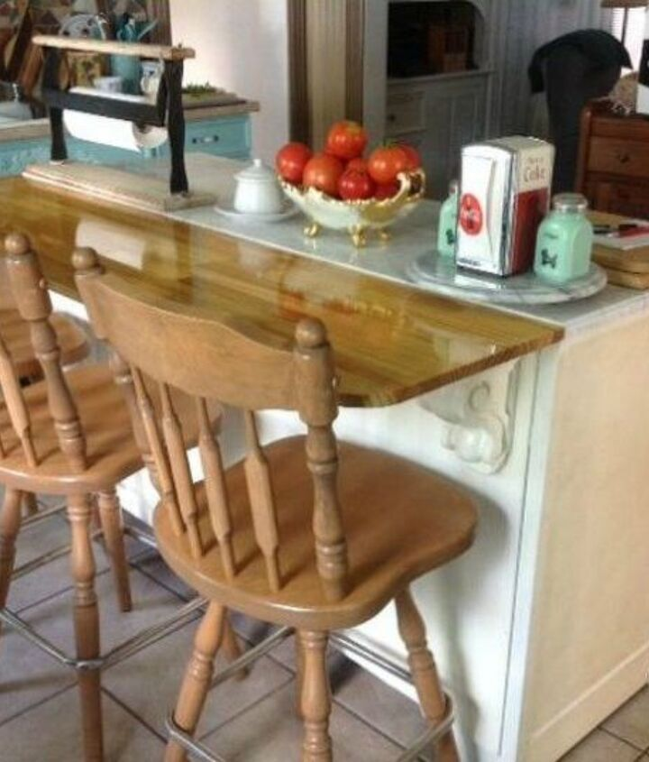 s 12 shocking things you can do with your old dresser, painted furniture, Add some veneer and make it a kitchen island