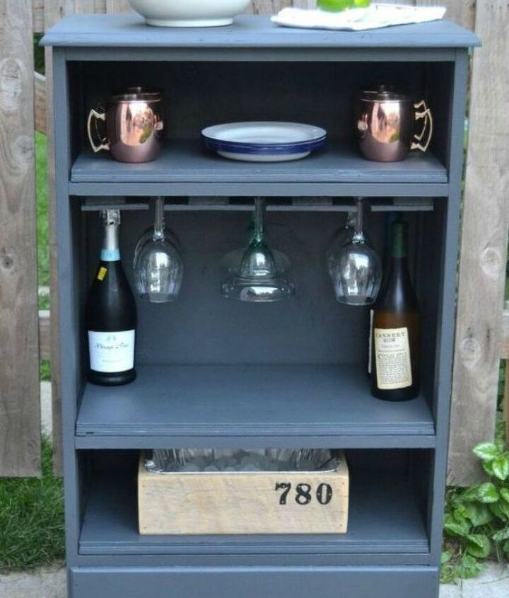 s 12 shocking things you can do with your old dresser, painted furniture, Or repurpose it into a drink bar