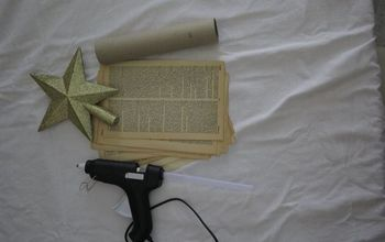 How to Make a Christmas Tree From a Book