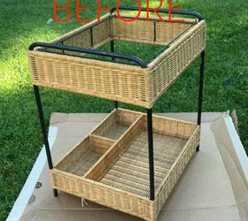 Before: An Ugly Old Wicker Cart