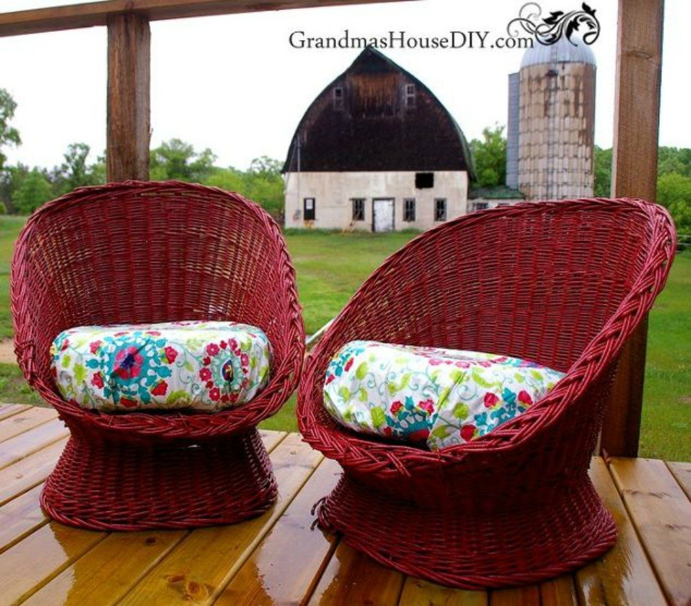 Uncategorized How To Make Wicker Furniture make wicker trendy again with these brilliant ideas hometalk after a comfy and vibrant place to sit