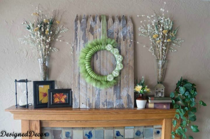 s you never thought of using an old fence like this 12 ideas , fences, As a rustic backdrop for your mantle