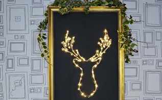 diy illuminated deer christmas decoration, pets animals
