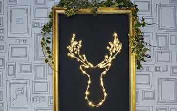 DIY Illuminated Deer Christmas Decoration