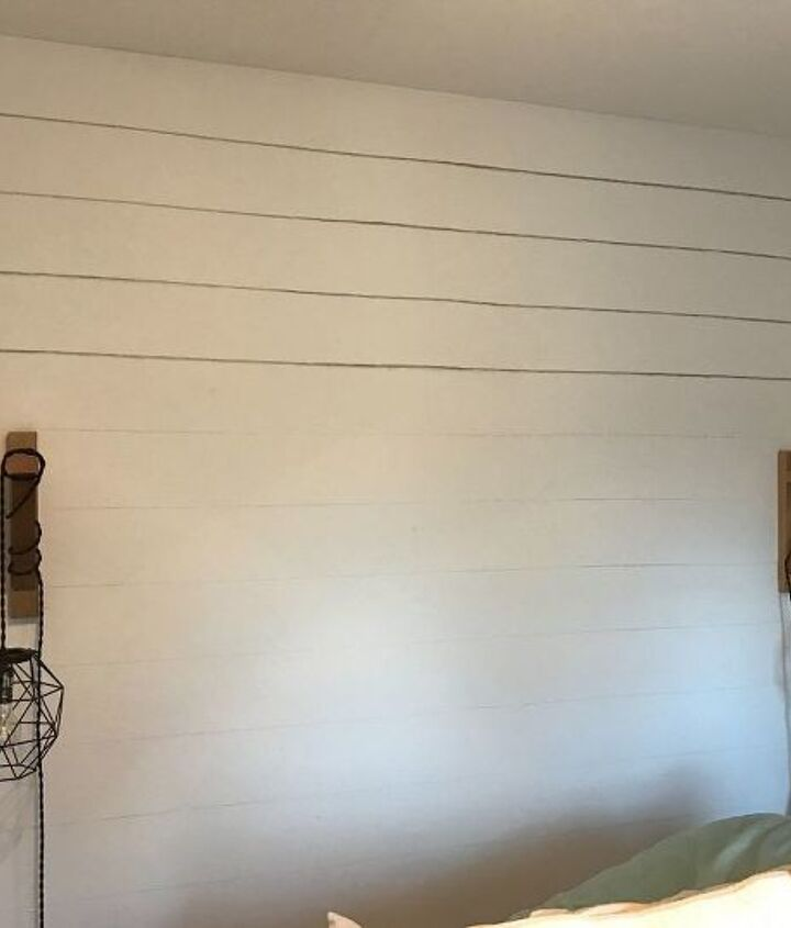 faux shiplap wall