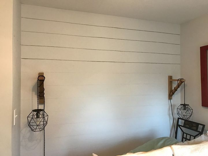 faux shiplap wall