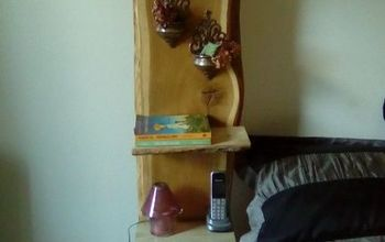 live edge night stand, painted furniture