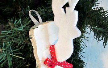Faux Deer Head Ornament