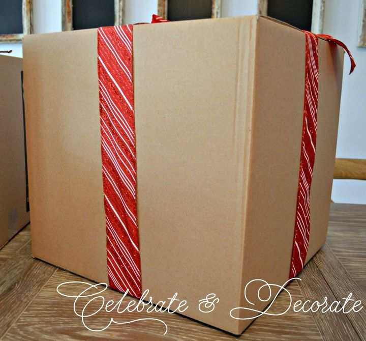 christmas decorations with cardboard boxes christmas decorations - Cardboard Box Christmas Decorations