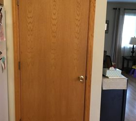 Just wondering since the doors are hallow if the trim nails would do any good or if the glue would be strong enough. Thank you!! & Need some help fixing up my hollow doors! | Hometalk
