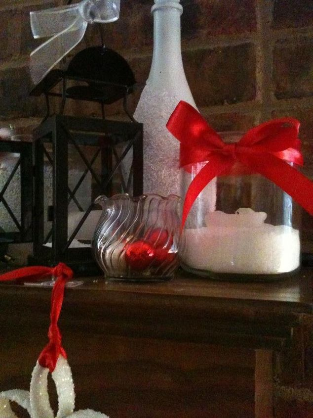 easy christmas frost and snow for glassware and jars