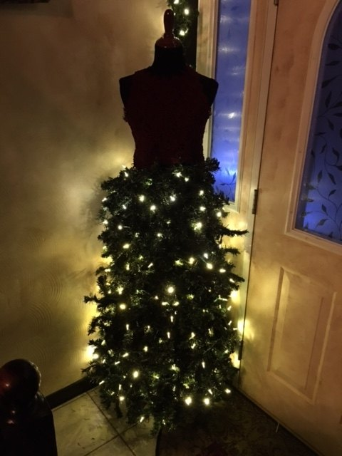 christmas tree mannequin