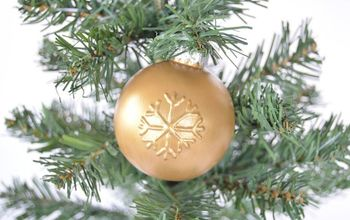 diy embossed christmas ornaments, christmas decorations, seasonal holiday decor