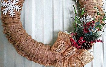 Frugal Four Season Burlap Wreath