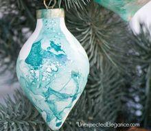 quick handmade watercolor ornament, christmas decorations, seasonal holiday decor