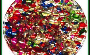 smashed christmas ornament coaster diy project, christmas decorations, seasonal holiday decor