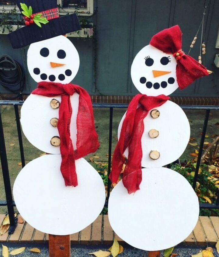 mr mrs snowman