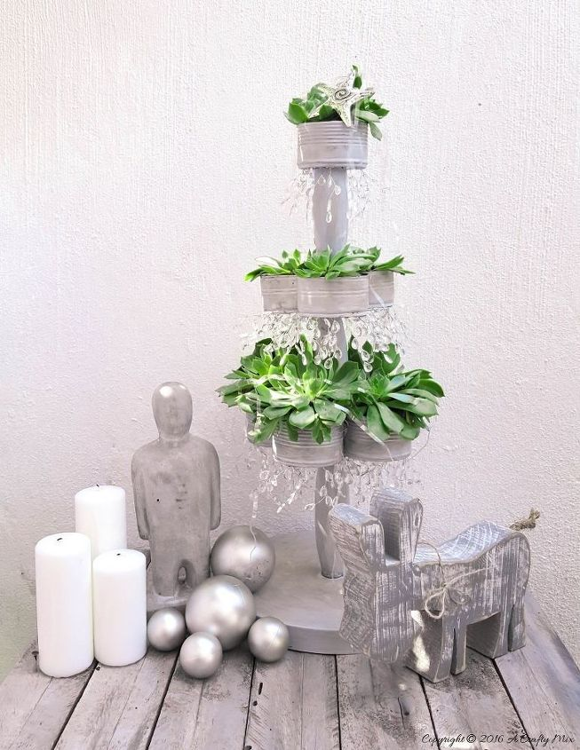 recycled tin can christmas tree