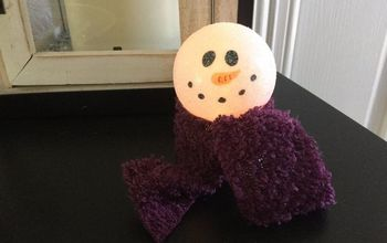 easy winter light up snowman craft , crafts