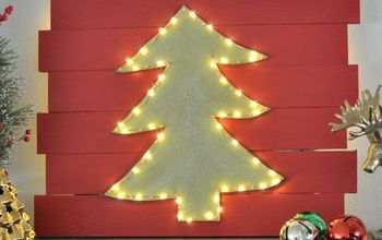 Christmas tree on a wall hometalk