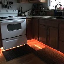 under cabinet rope lighting, kitchen cabinets, kitchen design, lighting