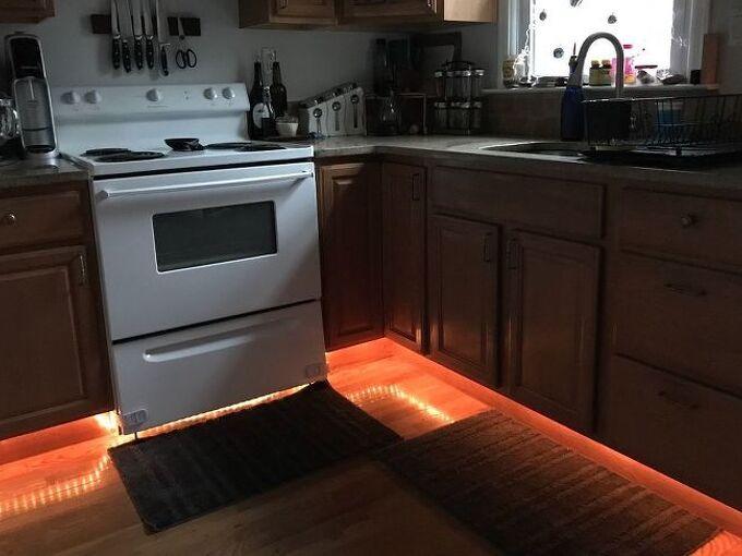 under cabinet rope lighting, kitchen cabinets, kitchen design, lighting