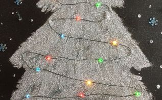 christmas light up canvas art hometalk live diy , crafts