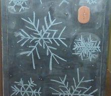 my christmas chalkboard, chalkboard paint, crafts