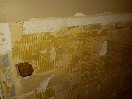 Removing Old Tile Adhesive From Walls Tile Design Ideas