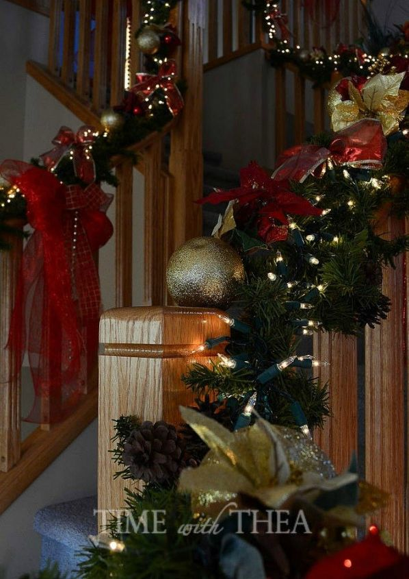 s forget your tree this will make you rethink where you hang ornaments, christmas decorations, seasonal holiday decor, Twist them around your banister