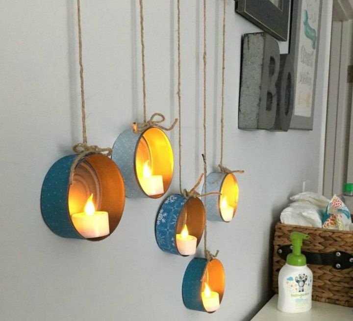s why everyone is lighting up their tin cans, lighting, The make great budget decor
