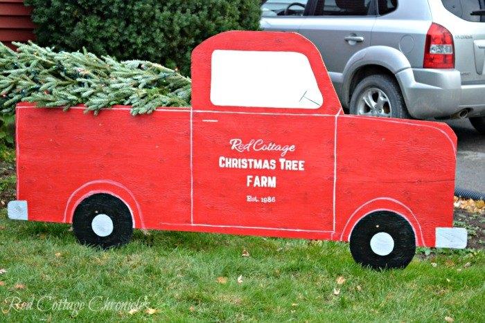 red truck christmas tree outdoor christmas decor christmas decorations home decor