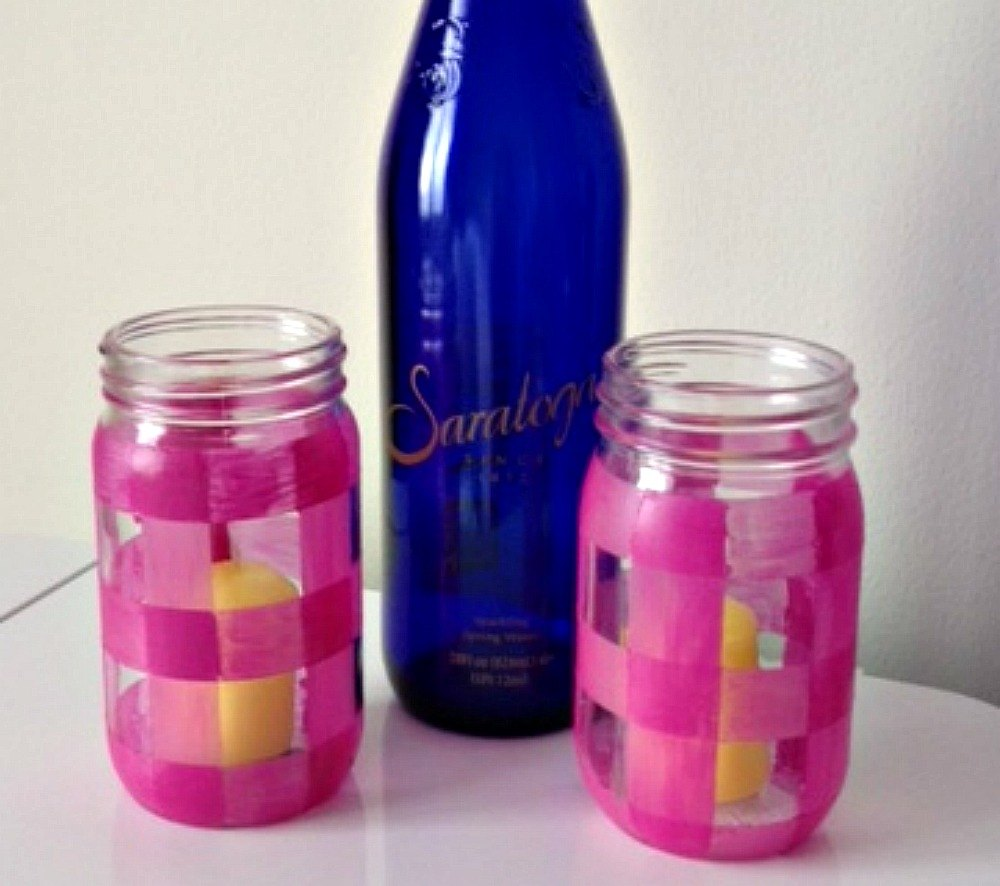 s don t throw away your old nail polish before you see these 14 ideas, Paint them on gingham jars