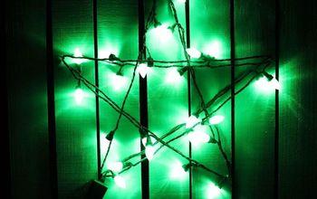 Holiday Fence Star Using App Lights