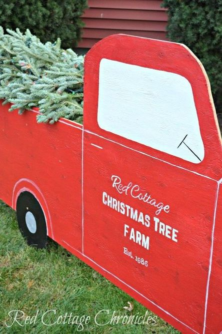 red truck christmas tree outdoor christmas decor christmas decorations home decor - Red Truck Christmas Decor