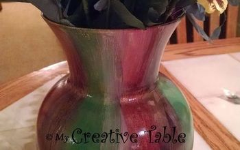 thrift store vase revived, Finished Project after lacquer sealer applied