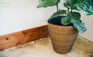 diy rustic baseboards at the zest quarters, wall decor, woodworking projects