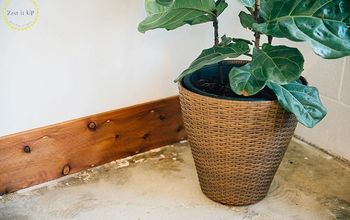 DIY Rustic Baseboards at the Zest Quarters