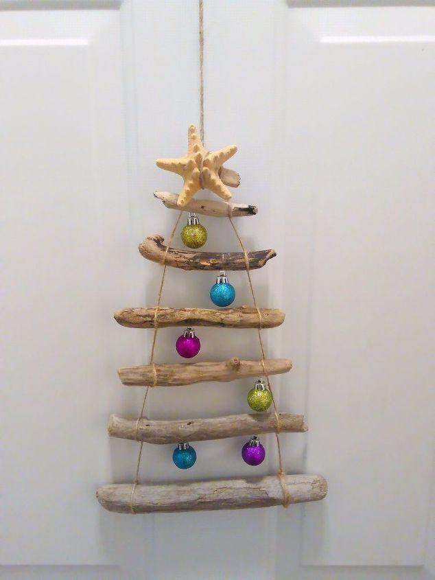 coastal christmas christmas tree driftwood wreath crafts wreaths - Coastal Christmas Tree
