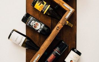 diy industrial wall mounted wine rack