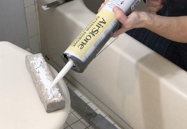 faux stone tub bathroom makeover phase 2 , bathroom ideas, concrete masonry