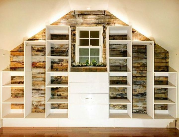 s you might rethink your home office when you see these brilliant ideas, home decor, home office, This shiplap storage and organizing wall