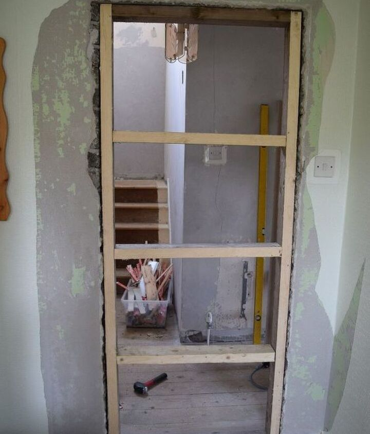 how to block a doorway and turned it into a solid wall, how to