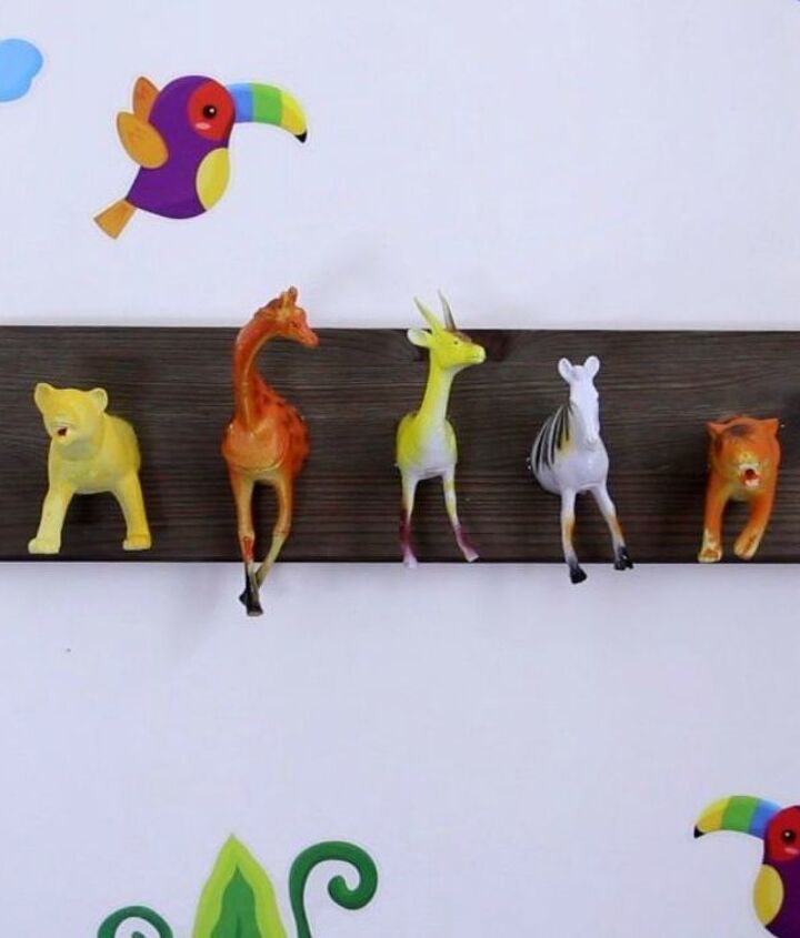 s 13 clever ways to hang up your jackets, Cut toy animals for your kids jackets