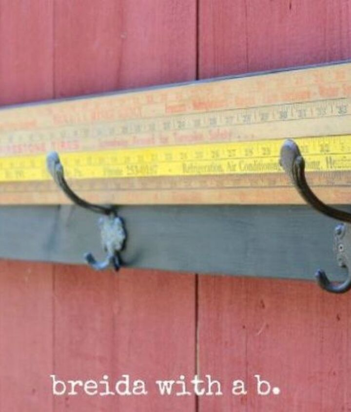 s 13 clever ways to hang up your jackets, Dress up your hooks with old measuring sticks