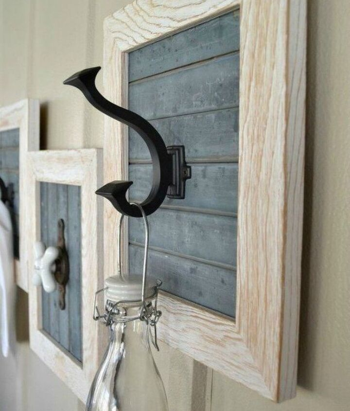 s 13 clever ways to hang up your jackets, Frame your hooks with a photo frame