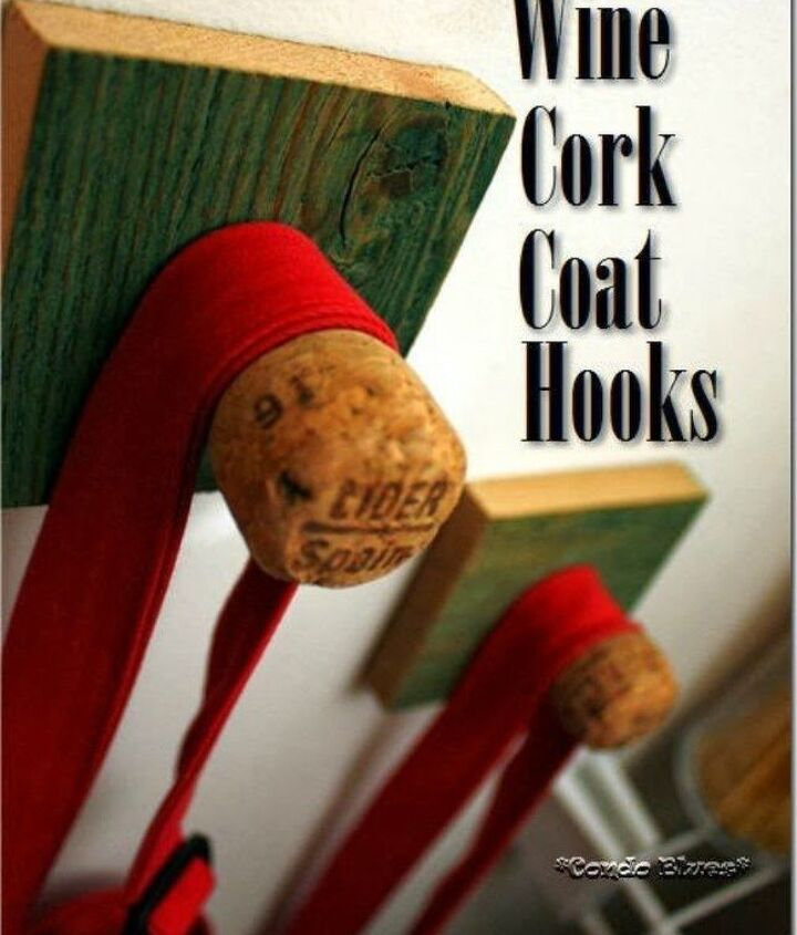 s 13 clever ways to hang up your jackets, Screw wine corks into wood