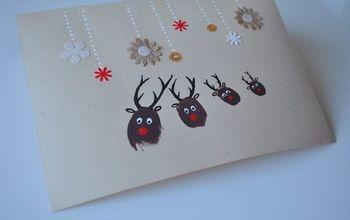 Finger Print Christmas Cards