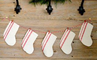 diy farmhouse christmas decor from a drop cloth, christmas decorations, home decor
