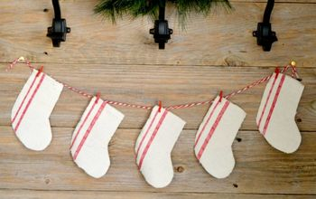 diy farmhouse christmas decor from a drop cloth, christmas decorations, home decor